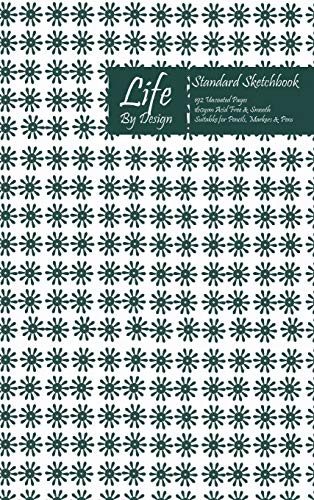 Life By Design Standard Sketchbook 6 x 9 Inch Uncoated (75 gsm) Paper Olive Cover