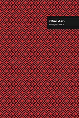 Blue Ash Lifestyle Journal, Creative Write-in Notebook, Dotted Lines, Wide Ruled, Medium Size (A5), 6 x 9 Inch (Red)