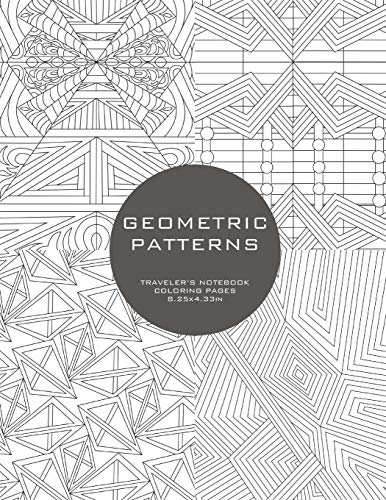 Geometric Patterns: Traveler's Notebook Coloring Pages