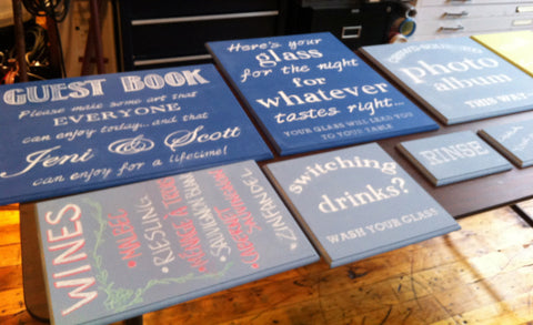 Chalkboard Signs: Set of 9, Various Sizes
