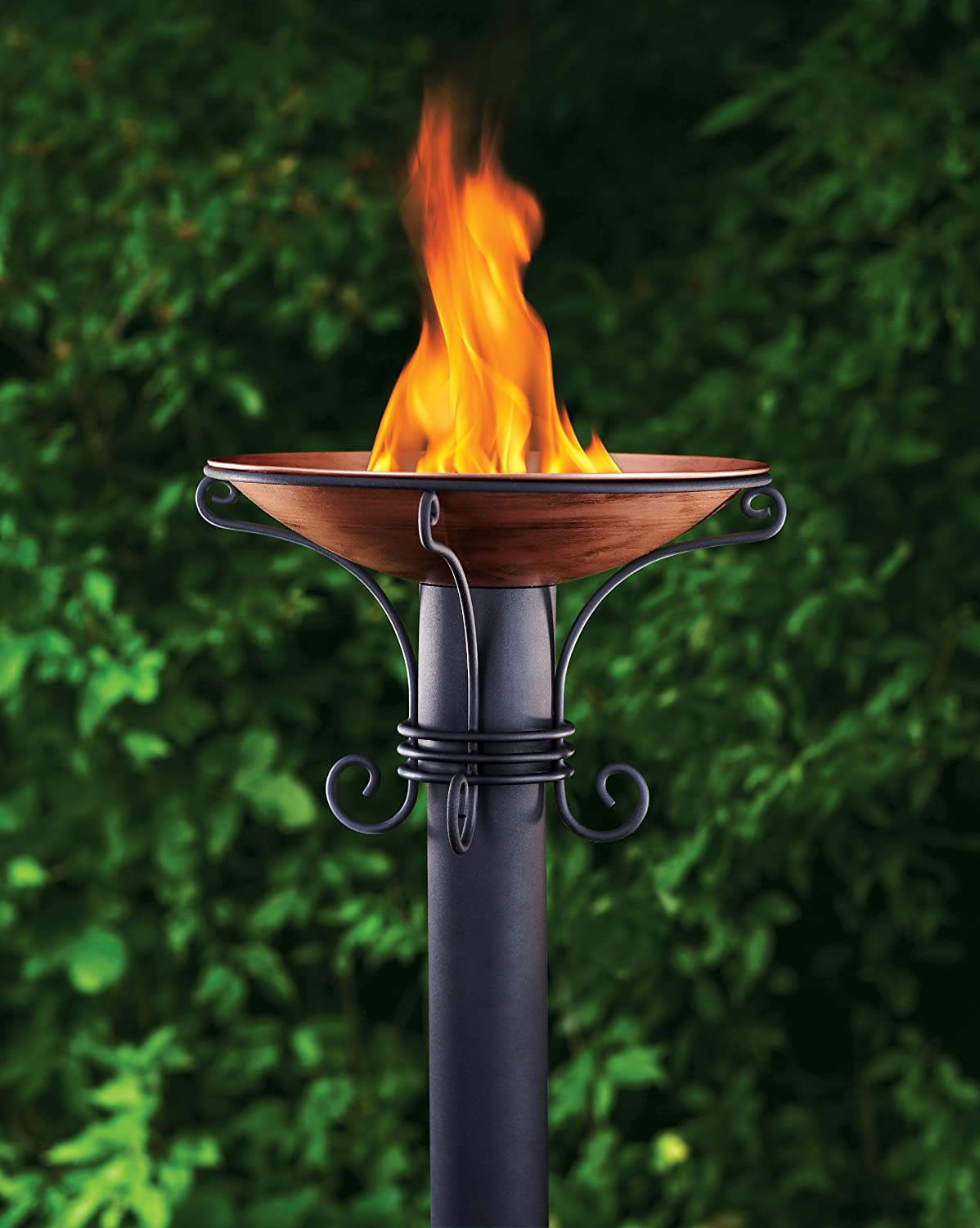Flaming Copper Cauldron Torchieres (6 available, priced individually)