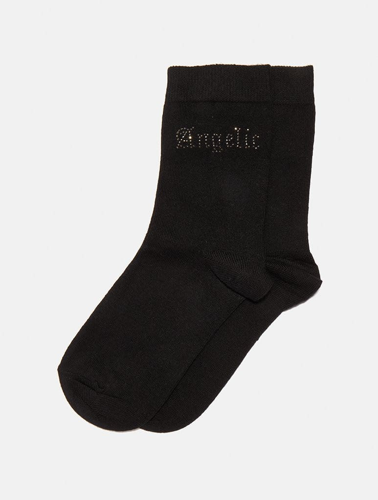 Empire: Angelic Diamante Socks - Classier