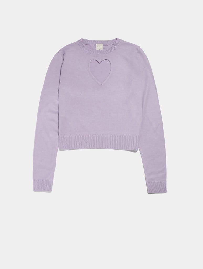 Empire: Heart Cut Out Knit Jumper - Classier