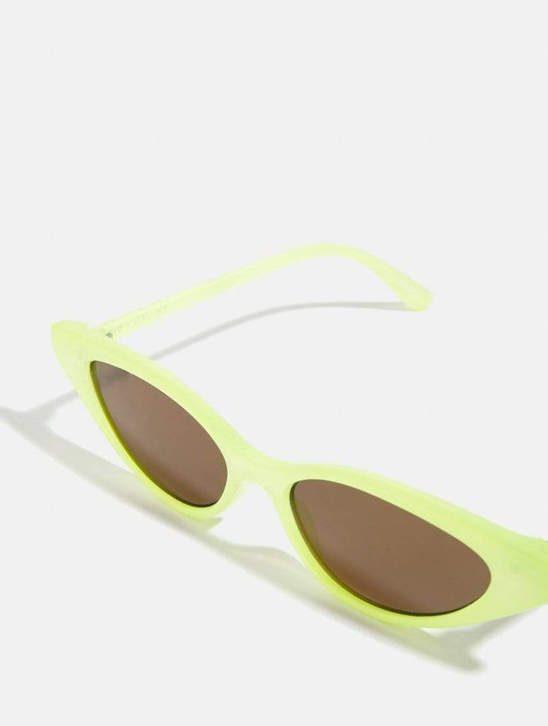 Empire: Lime Cat Eye Sunglasses - Classier