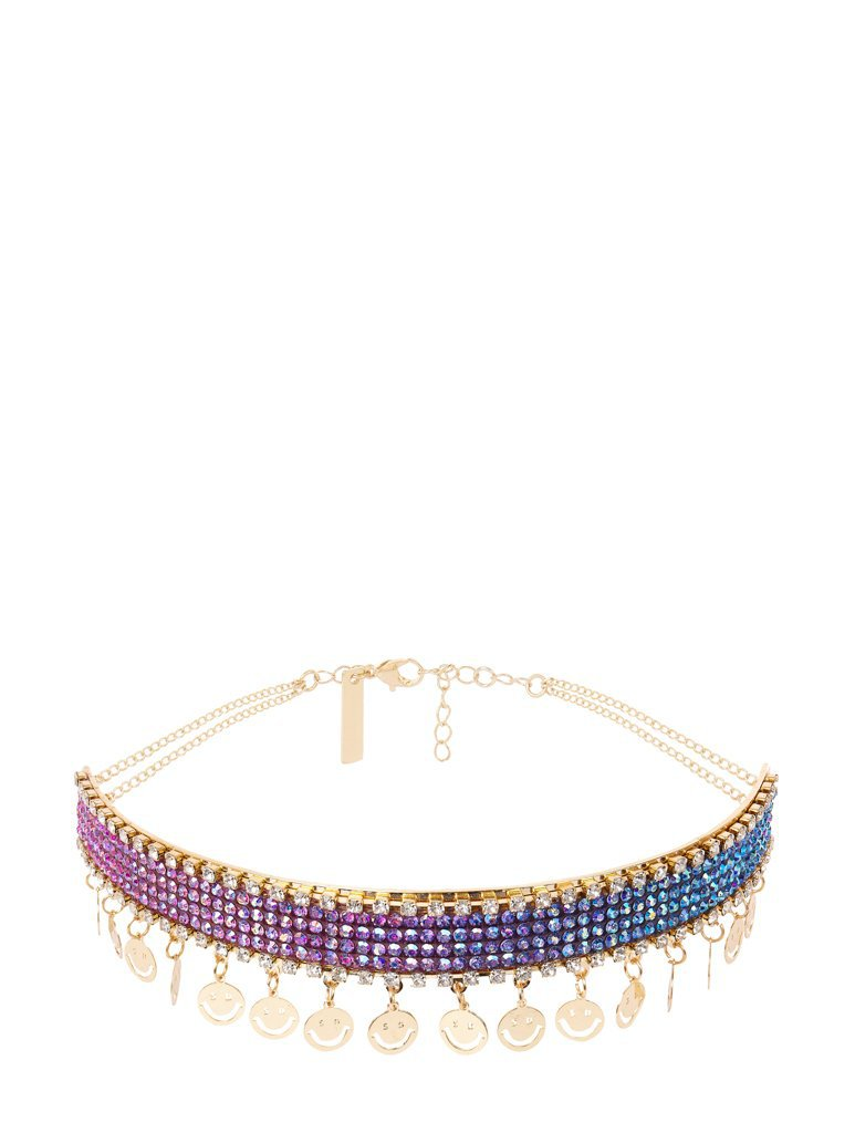 Empire: Rainbow Smiley Choker Necklace - Classier