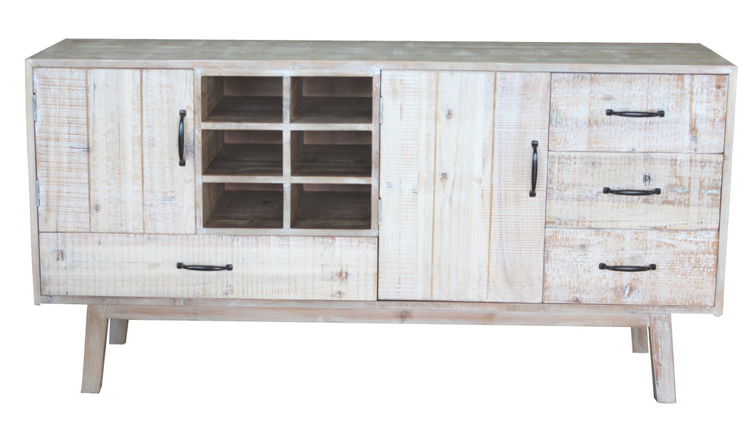 TNC Recycled Fir Sideboard with 3 Drawers and 2 doors,