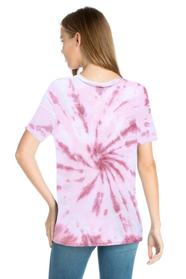 Bamboo Tie Dye Short Sleeve Top (6 Pack) - PIKO2969