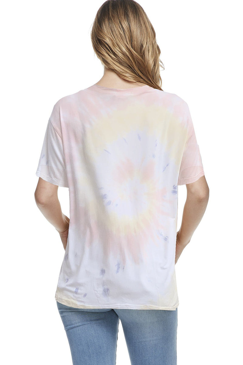 Bamboo Tie Dye Short Sleeve Top (6 Pack) - PIKO3090