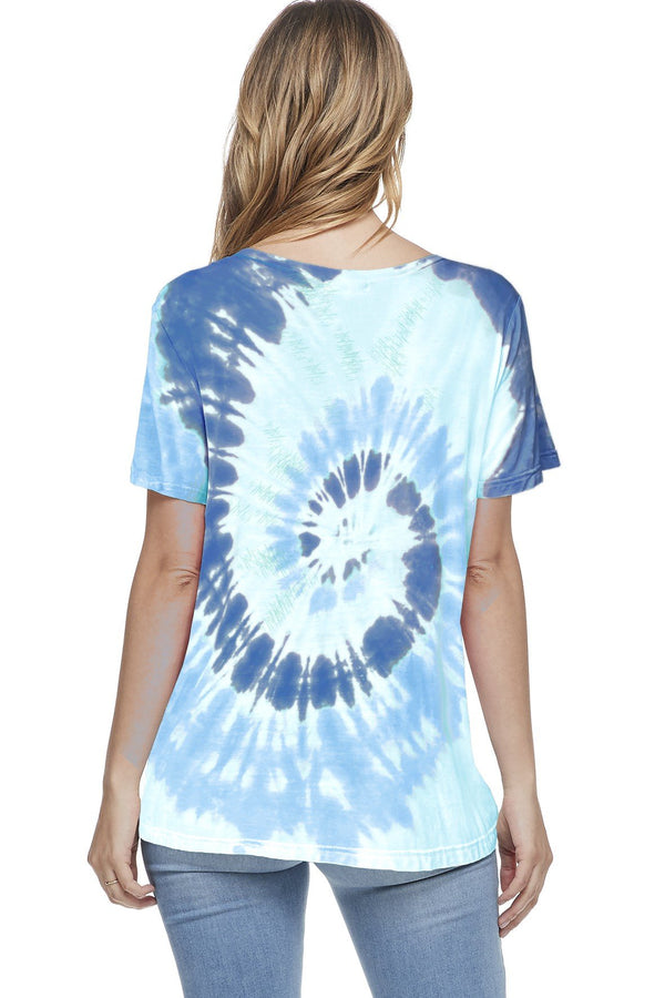 Bamboo Tie Dye Short Sleeve Top (6 Pack) - PIKO3121