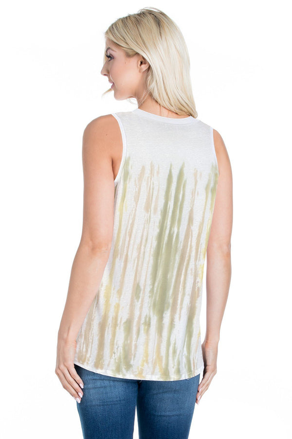 Cotton Tie Dye Tank Top (6 Pack) - PIKO3119