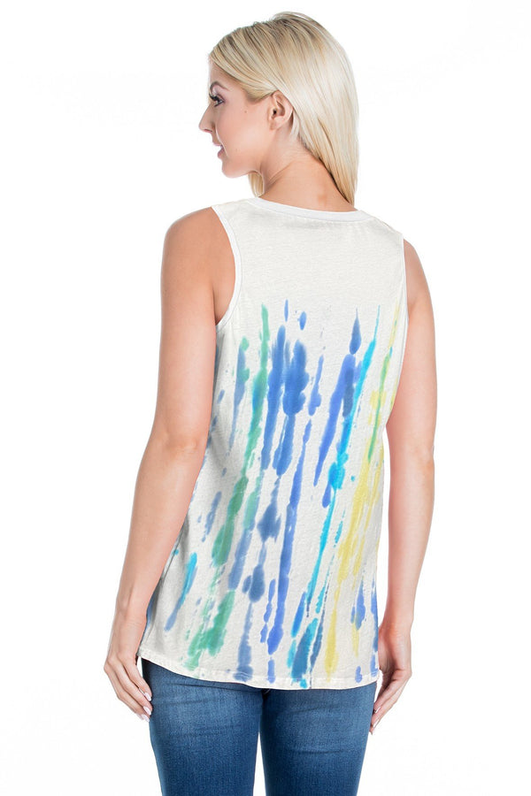 Cotton Tie Dye Tank Top (6 Pack) - PIKO3117
