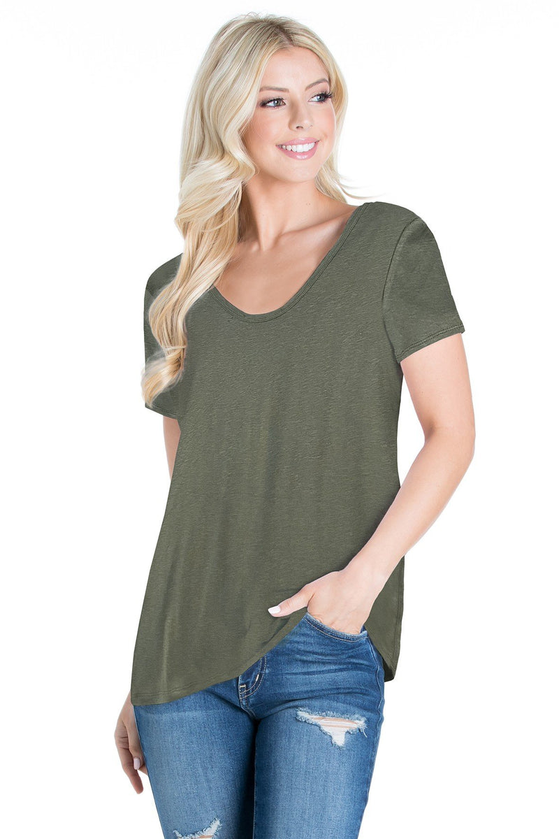 Cotton Slub Short Sleeve Top (6 Pack) - PIKO3126