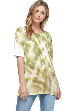 Bamboo Tie Dye Short Sleeve Top (6 Pack) - PIKO3129
