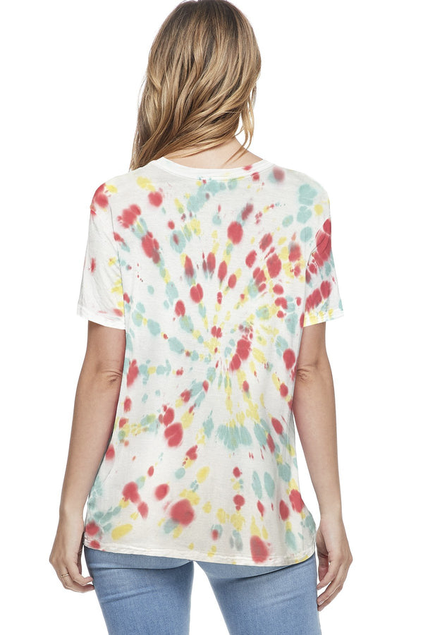 Cotton Tie Dye Short Sleeve Top (6 Pack) - PIKO3136