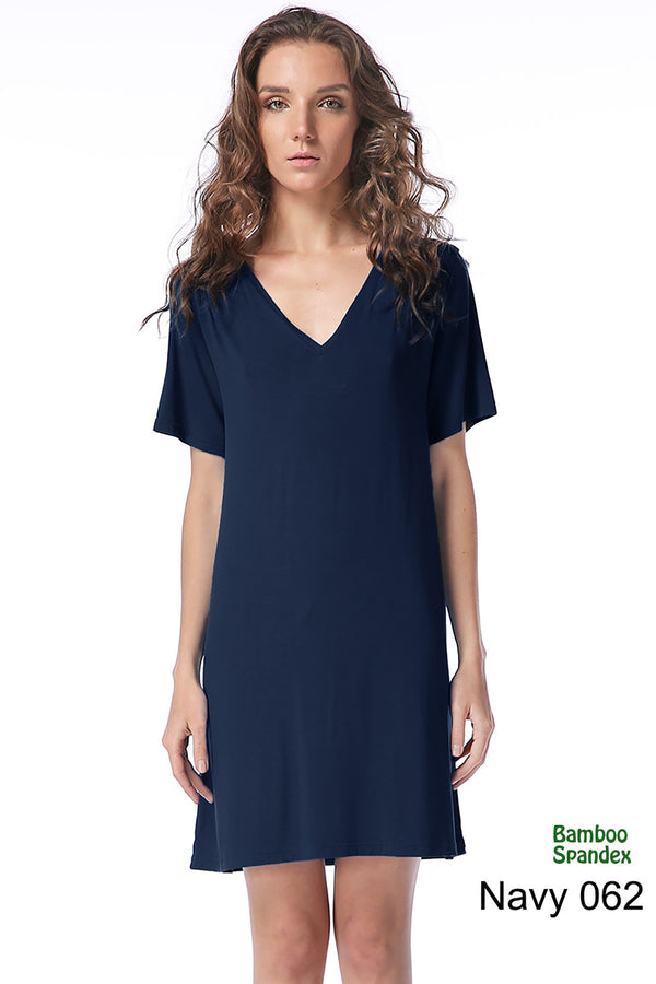 Bamboo V-Neck Short Sleeve Dress (6 Pack) - TPP2446