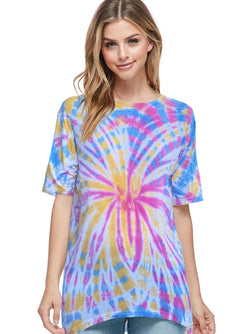 Bamboo Tie Dye Short Sleeve Top (6 Pack) - PIKO3122
