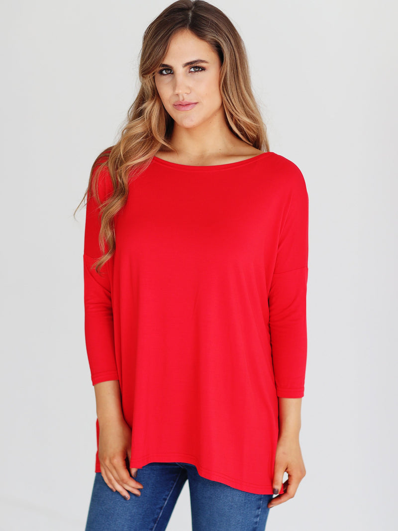 Bamboo 3/4 Sleeve Top (6 Pack) - TPP227708