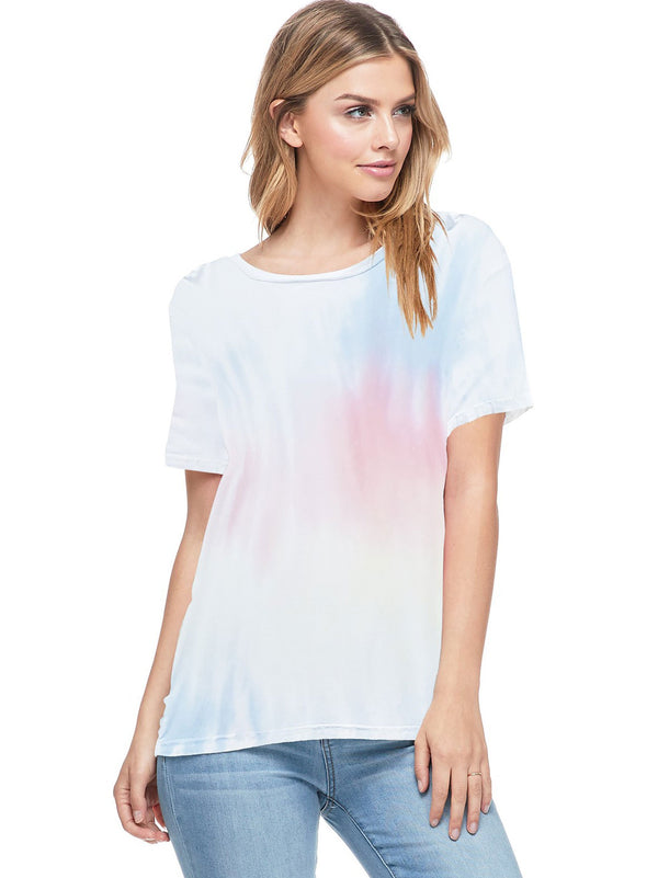 Bamboo Tie Dye Short Sleeve Top (6 Pack) - PIKO3115
