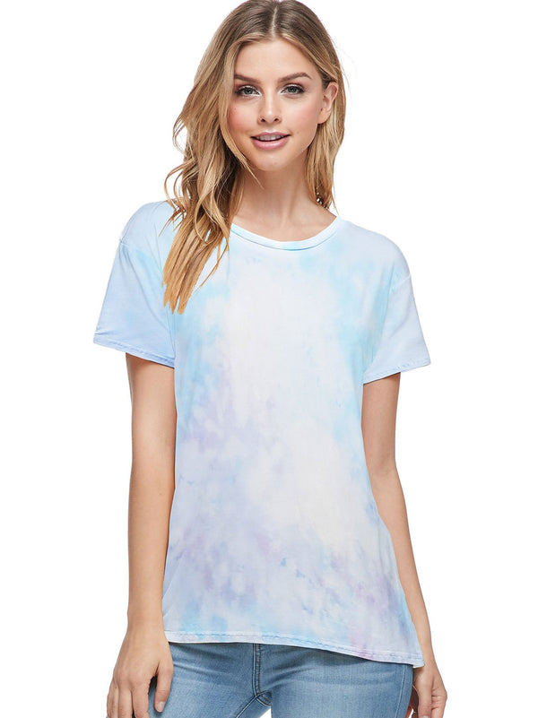 Bamboo Tie Dye Short Sleeve Top (6 Pack) - PIKO3113