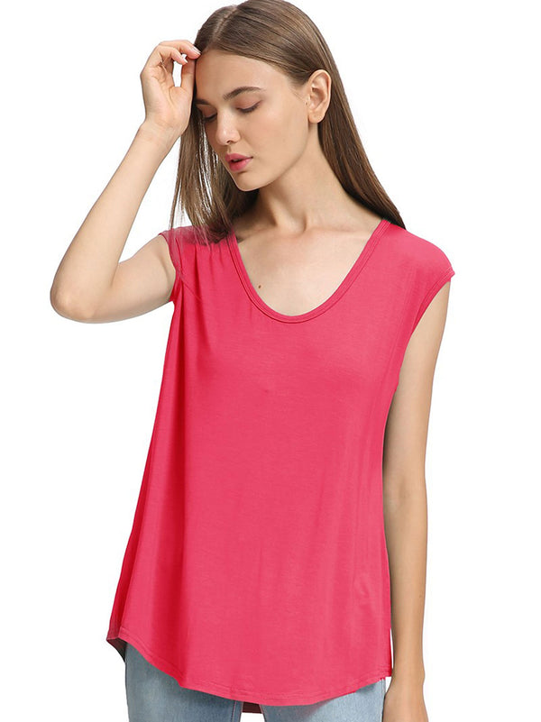 Bamboo Cap Sleeve Tank Top (5 Pack) - TPP2634