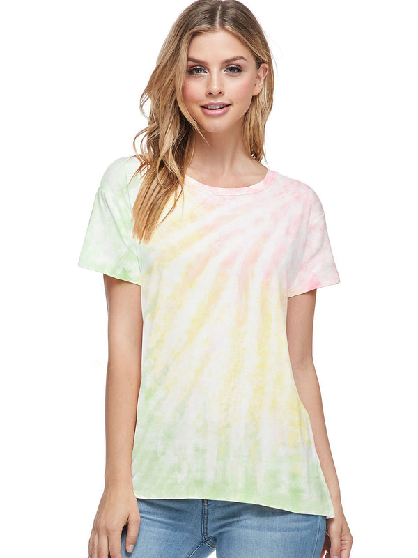 Bamboo Tie Dye Short Sleeve Top (6 Pack) - PIKO3112