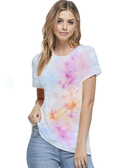 Bamboo Tie Dye Short Sleeve Top (6 Pack) - PIKO3110