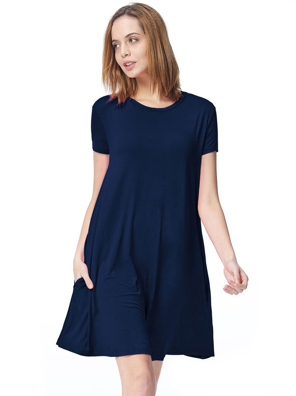 Bamboo Short Sleeve Swing Dress (6 Pack) - TPP2501