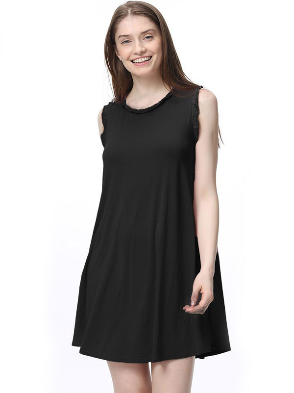 Bamboo Ruffle Trim Tank Dress (5 Pack) - TPP2621