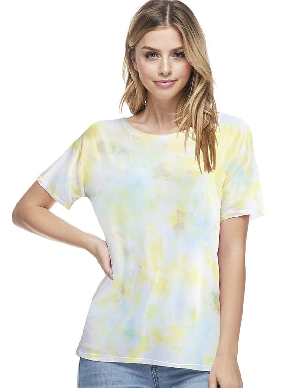 Bamboo Tie Dye Short Sleeve Top - PIKO3118