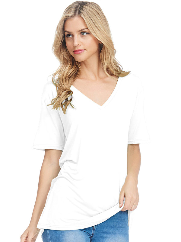 Bamboo V-Neck Short Sleeve Top (6 Pack) - TPP2367001