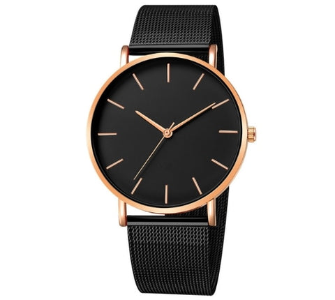 Unisex simple Stainless Steel watch
