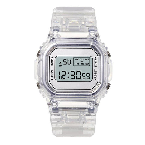 Transparent Digital Watch