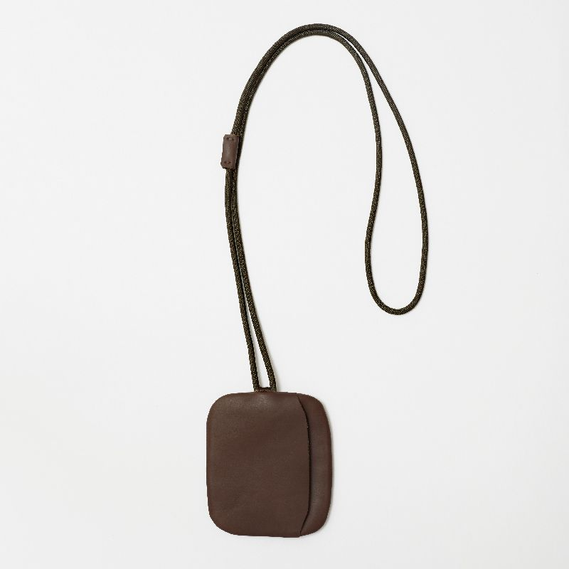 LAA185 WALNUT key pouch neck strap #1