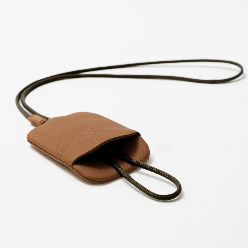 LAA187 WALNUT key pouch neck strap #2