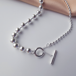 「order」T-bar necklace silver n003