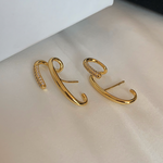 「order」french retro gold line pierce p133