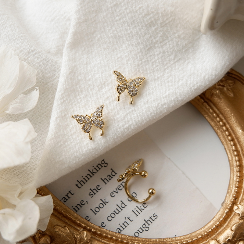 「order」3 piece butterfly pierce cuff set p067
