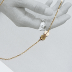 「order」initial necklace gold n006
