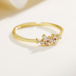 「order」14k white zircon ring r053