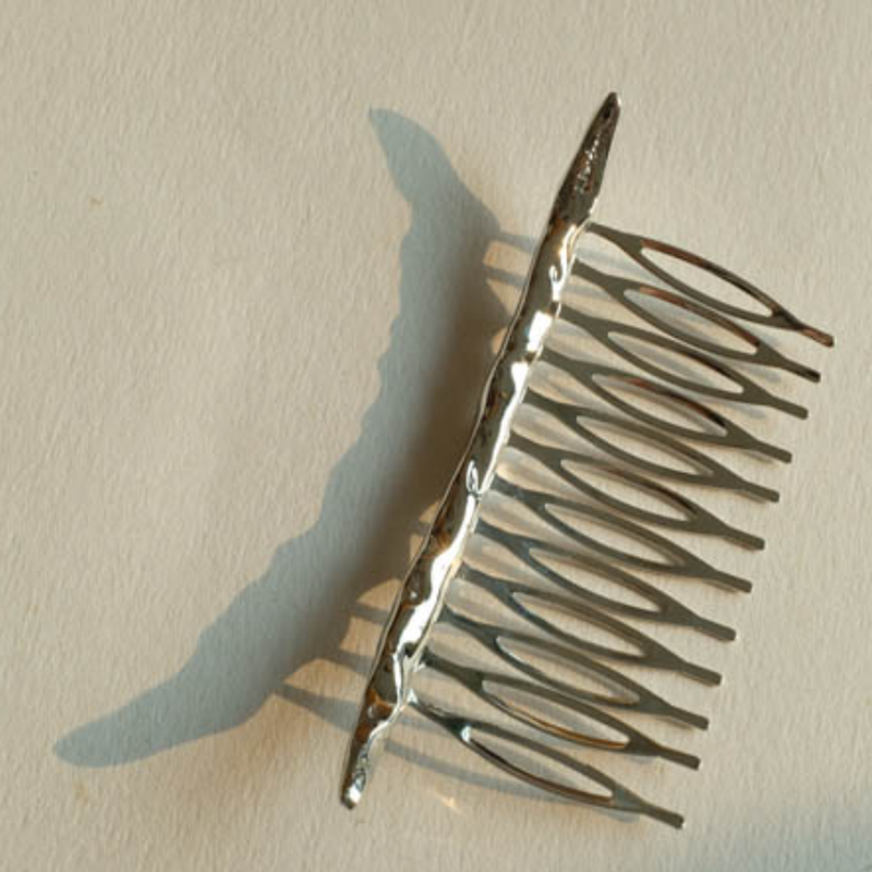 「order」stick hair comb gold/silver h007