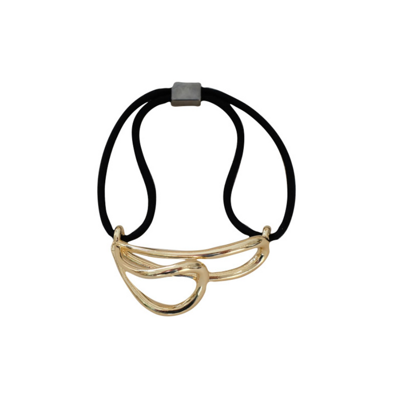 「order」metallic rubber band gold/silver h013