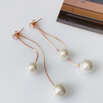 「order」pearl long pierce rose gold p037