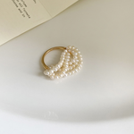 「order」multi layer pearl ring r051