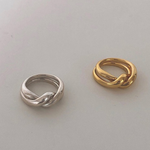 「order」twist ring gold/silver r023