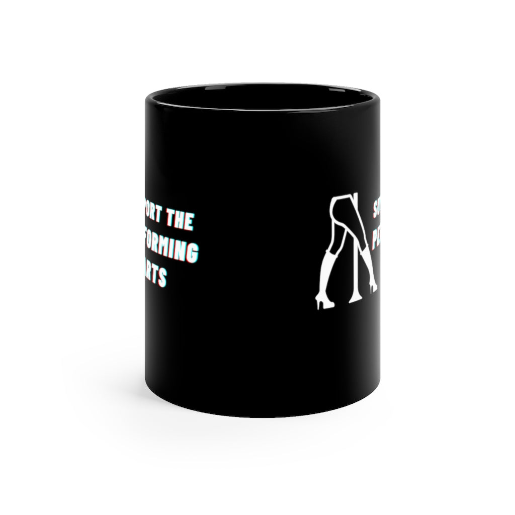 Support The Performing Arts Black mug 11oz