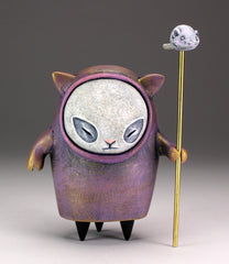 Angry Cat Spirit - of the purple robe