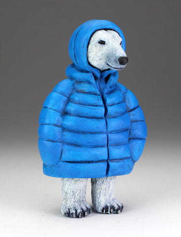 Polar Bear with cerulean blue parka - two available
