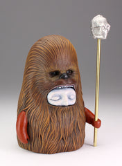 Wookiee Clan - Brass staff with cast metal C3PO