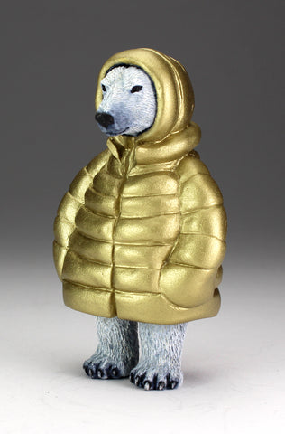 Polar Bear with shiny gold parka