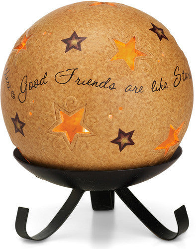 Good friends are like stars Candle Holder Candle Holder - Beloved Gift Shop
